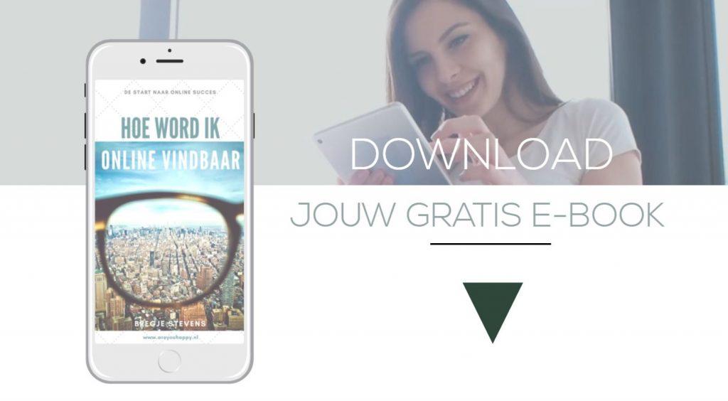 E Book: Hoe Wordt ik online vindbaar door areyouhappy.nl